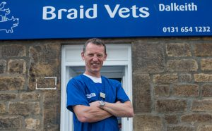 Mike Hall Outside Braid Vets Dalkeith